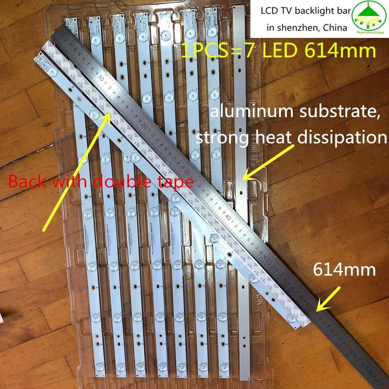 100%New 12Pieces*7LED 614mm*18mm LED Backlight TV Strip Bar GJ-2K15 D2P5-315 D307-V1 For 32 Inch TV 32HHA5857 LM315WF1