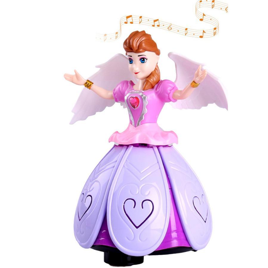 Mädchen Tanzen Prinzessin Multifunktions Musik Puppe FÜHRTE Pet Elektronische Roboter L306