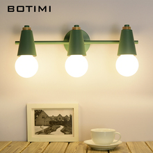 BOTIMI Nordic LED Mirror Light โคมไฟสำหรับห้องน้ำ Make Up Dressing Room Indoor Wall Sconce โคมไฟ