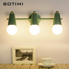 BOTIMI Nordic LED Mirror Light Modern Wall Lamp For Bathroom Make Up Dressing Room Indoor Wall Sconce Lighting Fixtures(China)