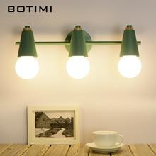 Светодиодный зеркальный светильник BOTIMI в скандинавском стиле, современная настенная лампа для ванной комнаты, макияжа, гардеробной, комнатное бра, осветительные приборы