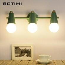 Botimi nordic conduziu a luz do espelho lâmpada de parede moderna para o banheiro compõem sala vestir interior arandela luminárias