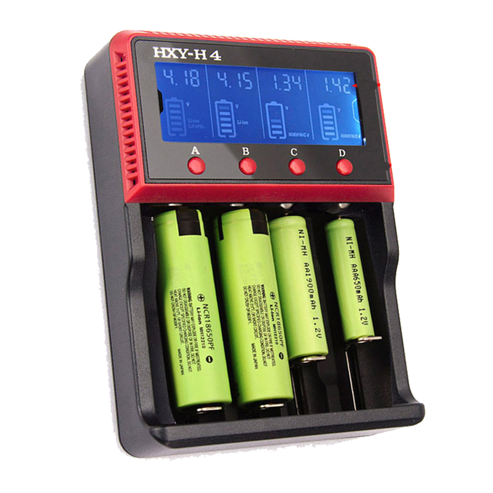 VT4 LCD Battery Charger 12V 24V Rechargeable Battery For LI-ion NiMH Ni-CD AA AAA AAAA 26650 14500 16340 22650 18650 PK D4 D2 3pcs battery charger 7 4v rechargeable li ion battery for olympus e300 e500 e3 e5 e520 e510