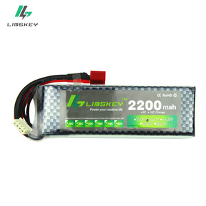 Limskey Power Brand New Lipo Battery 11.1V 2200 mAh 25C MAX 35C 3S T Plug for RC Car Airplane T-REX 450 Helicopter Part