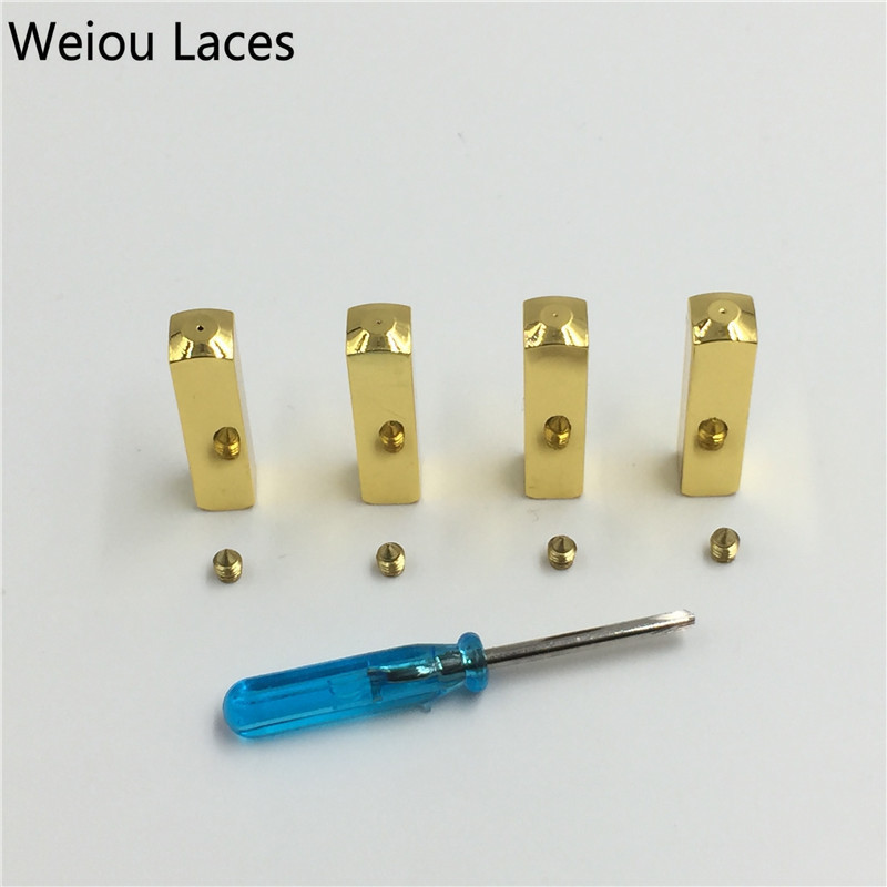 metal aglet 6*6*25mm sapato atacadores espelho ouro