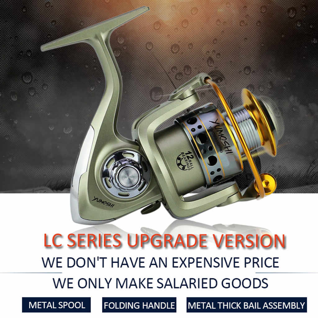 Hot wheels fish spinning reel Big Full Metal Body size 1000-7000 Classic Style carretilhas de pescaria fishing reel  #L4