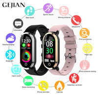 GEJIAN Smart Bracelet Men's Women's Bracelet Heart Rate Sphygmomanometer Fitness Tracker Fashion Waterproof Sports Smart Watch