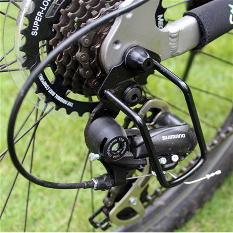 HEAVY DUTY Bicycle Rear Derailleur Guard Steel Protector Black NEW
