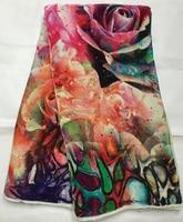 4 5meters Lot NVF1017 3 Very Nice Velvet Fabric New Design Nigerian Velvet Textile Velour Fabric
