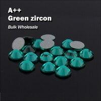 Зеленый циркон оптовый Hot Fix Стразы подобные SWA AAA Качество strass исправления Камни и кристаллами для одежды украшения