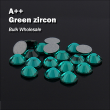 Green zircon Bulk Wholesale Hot fix Rhinestones Similar Swa AAA Quality  Strass Hotfix Stones and Crystals d634a9d84edc