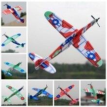 Mainan untuk Anak 2018 Baru Panas Gelembung Busa Meluncur Pesawat Kecil Penerbangan Model Mainan Anak Glider Warna Acak Mainan Bayi