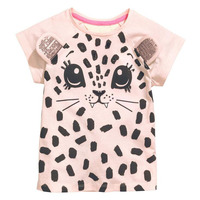 wholesale Little maven 6pcs Summer Baby Girls T Shirt pink Print Kids Clothes Child Cotton Short Sleeve T shirts