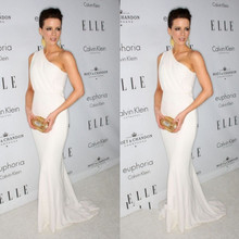 Celebrity Dress Carpet Evening-Gowns Red Mermaid One-Shoulder A-Line Floor-Length Vestido