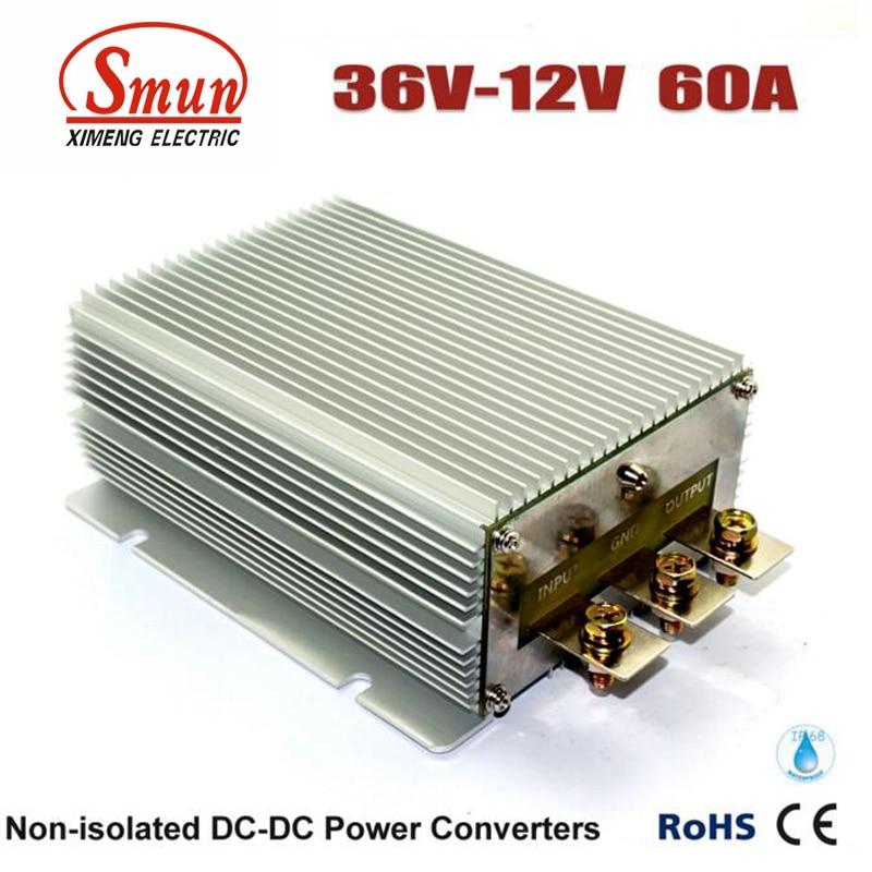Waterproof IP68 36VDC to 12VDC 60A 720W Buck DC-DC Converter Power SupplyWaterproof IP68 36VDC to 12VDC 60A 720W Buck DC-DC Converter Power Supply