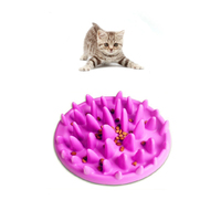 Eco-friendly Silicone Pet Dog Cat Slow Food Bowl Healthy Eating Kitten Feeding Container Puppy Slow Feeder Dish Bowls
