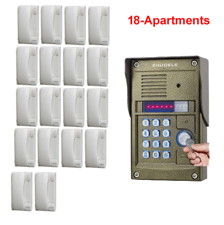 Systematic Zhudele Home Security Intercom System Unlocking Building Audio Door Phone System For 18 Apartments Metal Waterproof Outdoor Bell Back To Search Resultssecurity & Protection Audio Intercom
