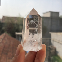 1 piece Natural Clear Quartz Crystal Point Wands Tower Wholesale Price Healing Decoration TOP QUALITY Natural stones minerals