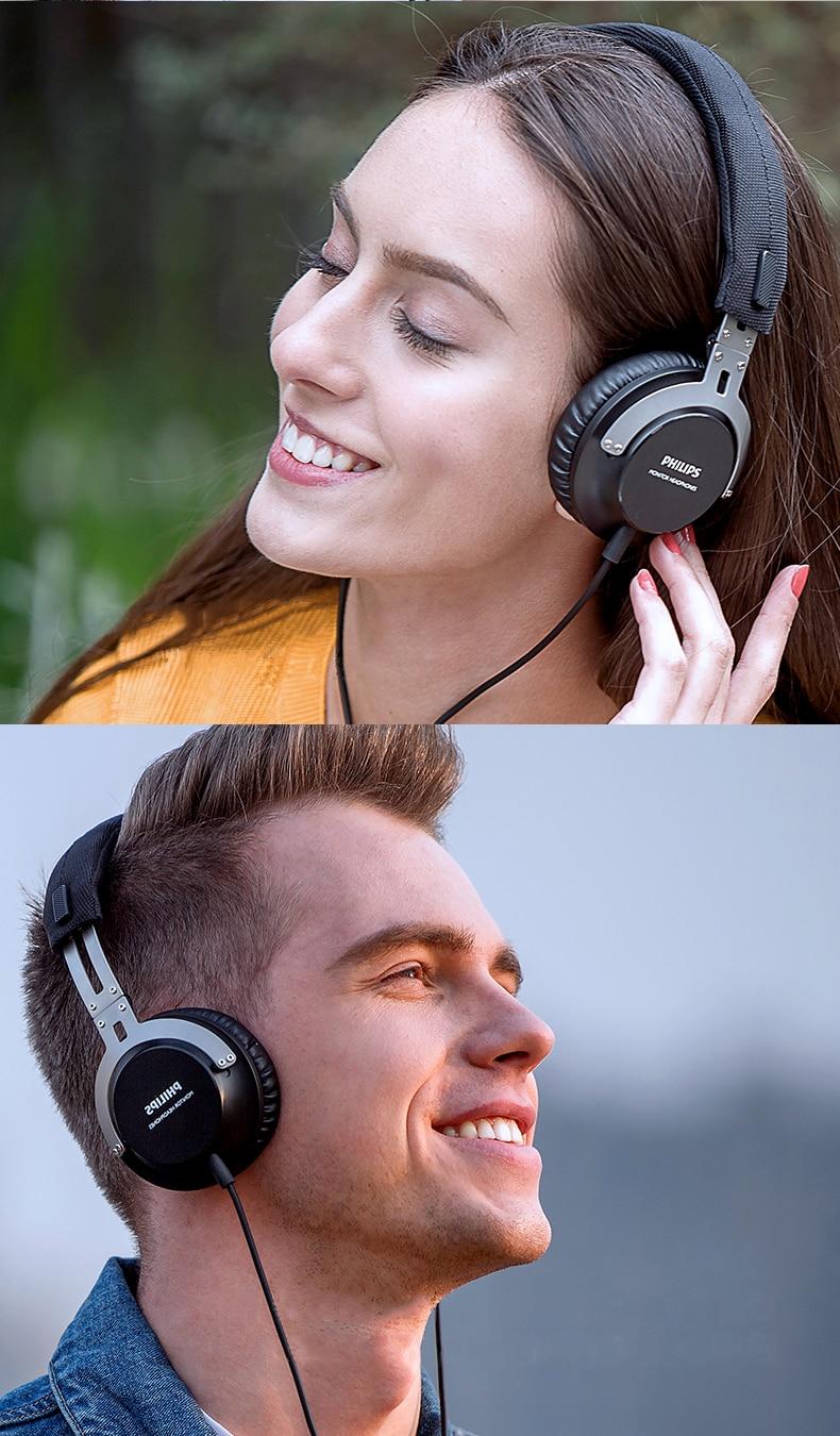 Philips shl3565 profissional baixo earphopne com controle