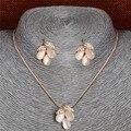 Jewerly los Sistemas Para Las Mujeres de Oro de Cristal austriaco Joyas de Piedras de Ojo de Gato Conjunto De collar de la Declaración africana joyería de los pendientes set