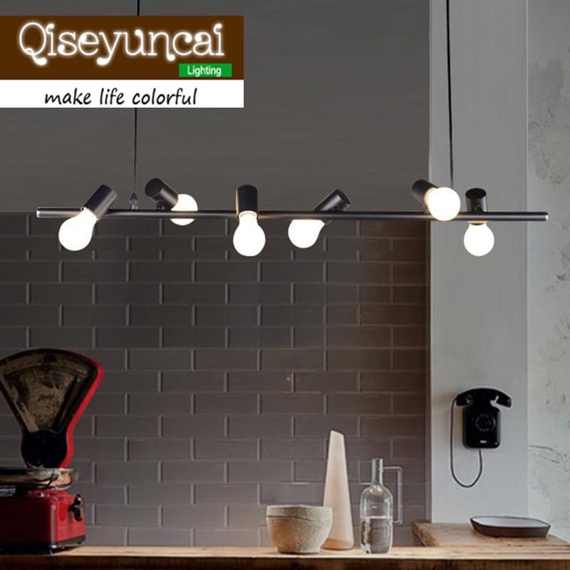Qiseyuncai Nordic Modern Pendant Lamp Black/White Six Bird Lighting Suspension Luminaire E27 110V 220V for decor Light Fixtures