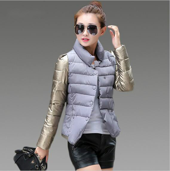 2016 Spring Autumn Winter Jacket Women Basic Coats Long Sleeve Stand Collar Ladies Jacket Female Manteau Femme