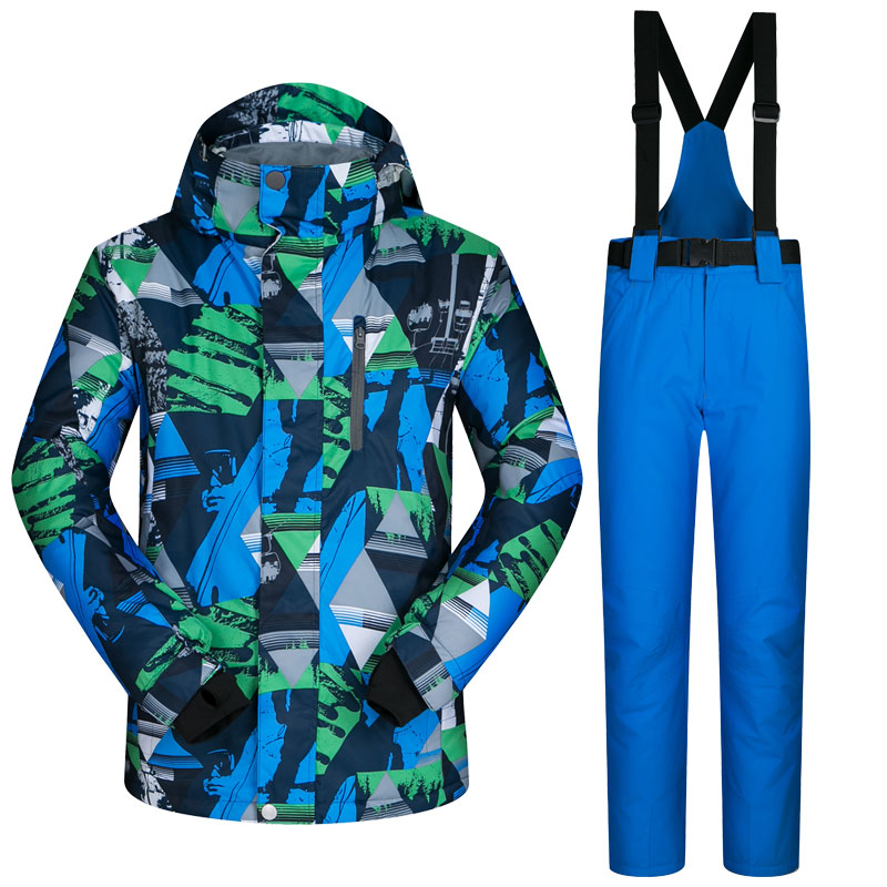 New font b Ski b font Suit Male Windproof Waterproof Thicken Clothes For Men Snowboard Jacket
