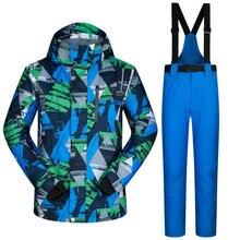 Neue Skianzug Männlich Winddicht Wasserdicht Verdicken Kleidung Für Männer Snowboard Jacke Und Hose Marke Mantel Und Hosen Winter Tragen