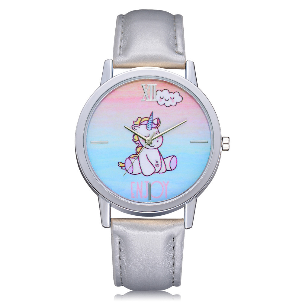 Women's Kid's Cartoon Wrist watch Ladies Girls Cute Cartoon Unicorn Animal Dial Analog Alloy Quartz Wristwathes Female Clock cartoon animal women watch