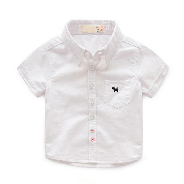 Boys' Cute Plain Cotton Shirt