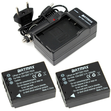 2Pcs 3.7v 1300mAh CGA-S007 CGA CGR S007E S007 S007A BCD10 Battery + Charger for Panasonic DMC TZ1 TZ2 TZ3 TZ4 TZ5 TZ50 TZ15
