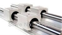2pcs SBR20 800mm Linear Shaft Support Rails + 4pcs SBR20UU Open Linear Bearings Slide Linear Motion for DIY CNC XYZ table