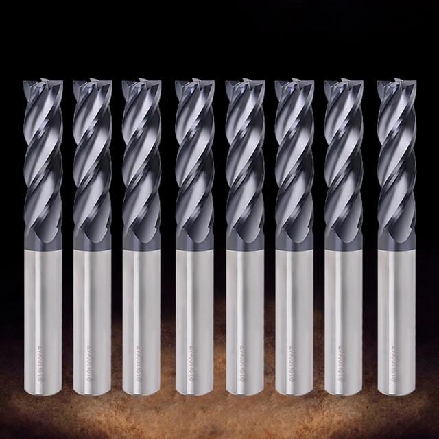 エンドミル切削HRC50 4 フルートミル 1/1。5/2/2。5/3/4/5/6 ミリメートル合金超硬タングステン鋼フライスカッターエンドミル金属カッター