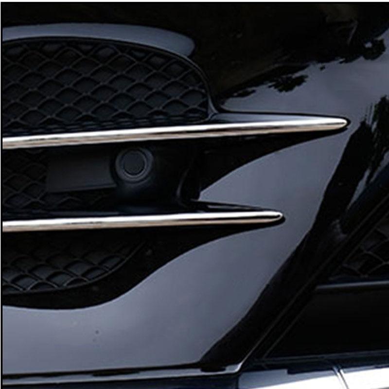 For 2017 Mercedes GLC front fog lights front grille blade trim ABS plating 4 sets mercedes а 160 с пробегом