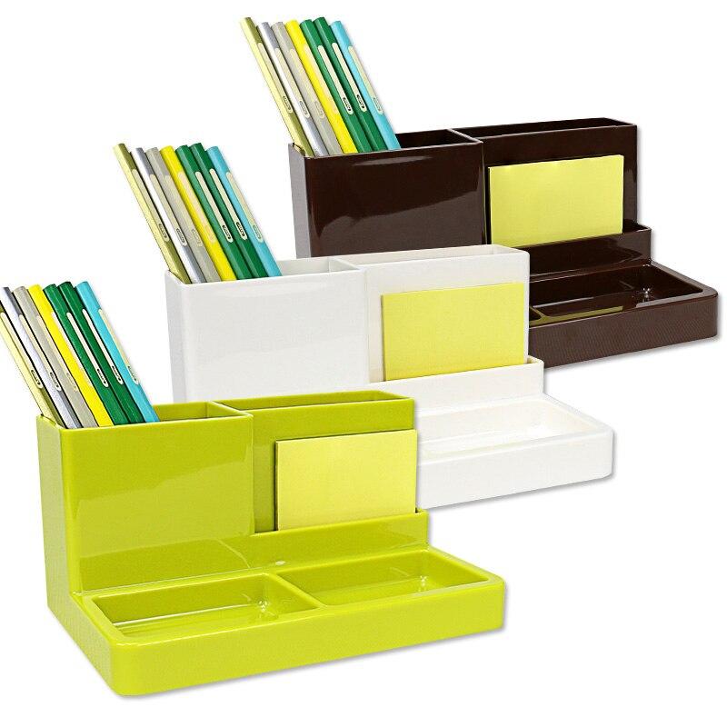 Multi-Function Pen Holder Pencil Organizer PP Plastic Pen Pot Storage Stand For Desktop Pencil Cases Office Suppiles Stationery цена 2017