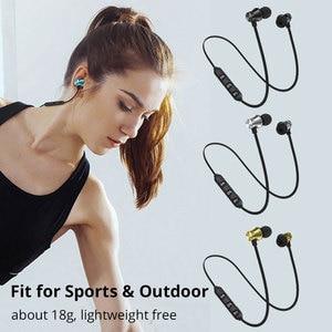 Image 5 - Słuchawki bezprzewodowe magnetyczny zestaw słuchawkowy Bluetooth wodoodporne słuchawki sportowe słuchawki douszne z mikrofonem do Xiaomi Redmi Note 8 Pro Umidigi F2
