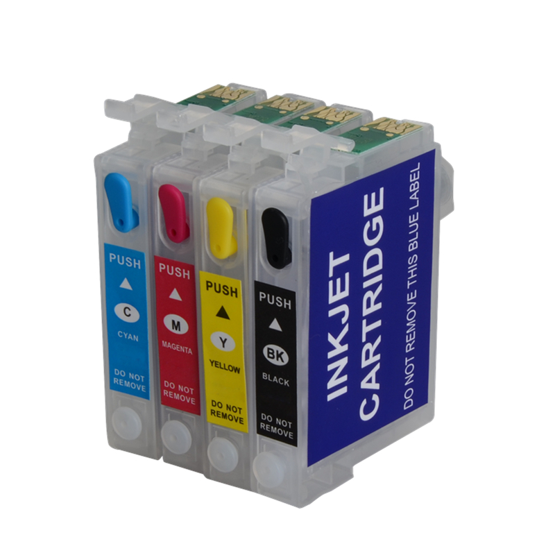 T0921N Refillable ink Cartridge T0921 92N For Epson Stylus C91 CX4300 T26 TX106 TX109 TX119 T27 T117 Printer Auto Reset Chip hot with show ink level chip for epson stylus pro 7700 9700 ink cartridge for epson wide format printer