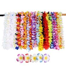 41 шт. Искусственные цветы Гавайские ожерелья полинезийский венок и заколки для волос вечерние поставки летние пляжные украшения на день рождения и свадьбу