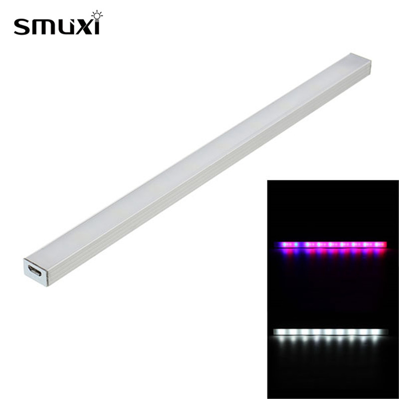 Smuxi LED Grow Lights Plants Growing Lamp 25CM 9 White 18 Red 9 Blue Growth Light Tube For Greenhouse Garden