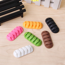 1Pc 5 Clip Earphone Cable Winder Organizer Charger Cable Holder Fixing Device