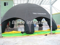 Hot sale oxford waterproof black inflatable advertising tent 6legs spider tent inflatable air dome for activities