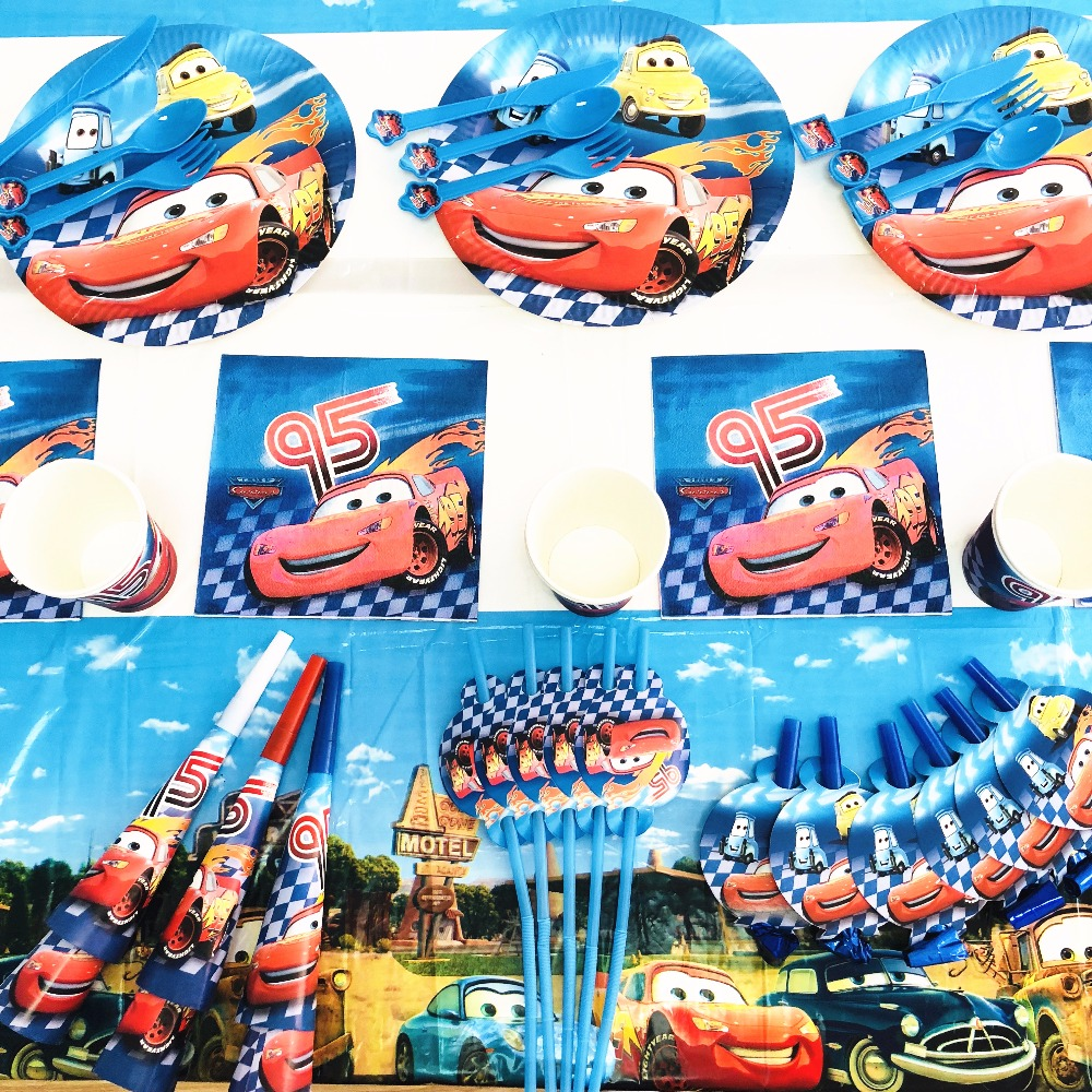 Cars Lightning McQueen Party Supplies Kids Birthday Decoration Baby Shower Favor Boy In Disposable Tableware From Home
