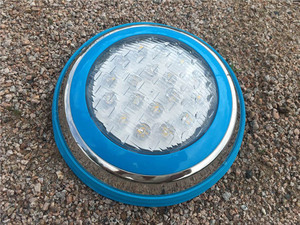 Image 2 - 12 12v マリンボート RGB LED 水中ライトリモートコントロールスイミングプール池屋外照明