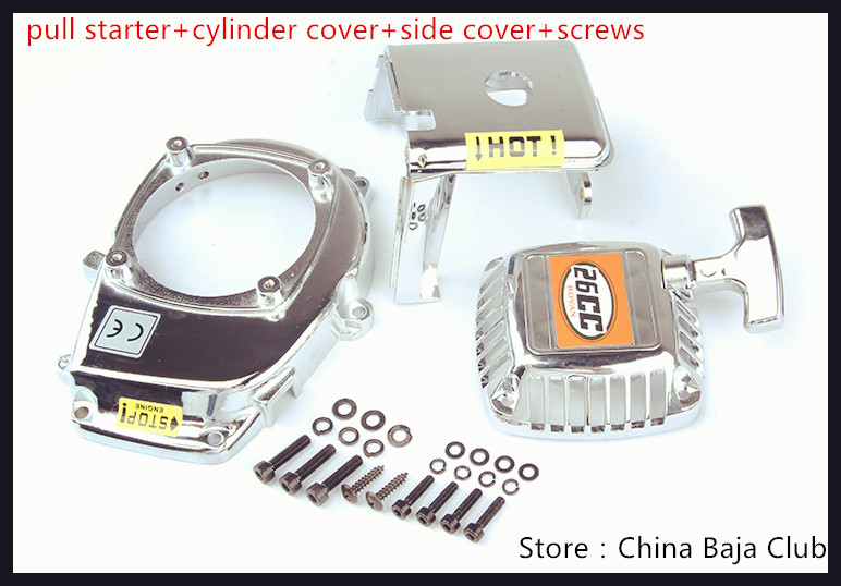 Engine Cover Set with Chrome plated (pull starter+cylinder cover+side cover+screws) fit Baja 5B 5T 85108