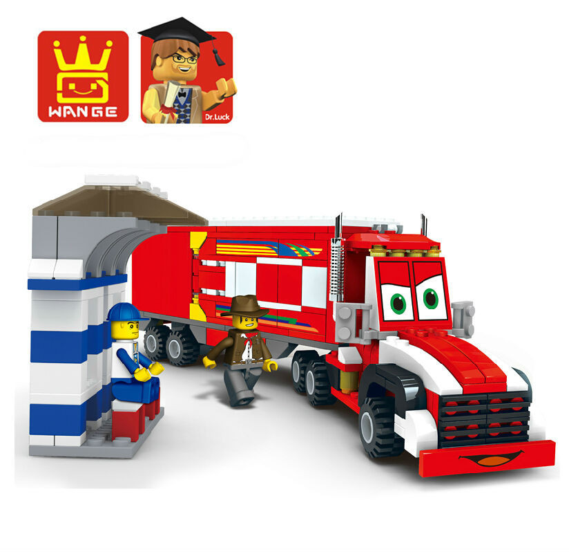 Wange PIXAR Cars Mack Truck 32181N Building Blocks Sets 337pcs Educational Jigsaw DIY Construction Bricks diy toys for children