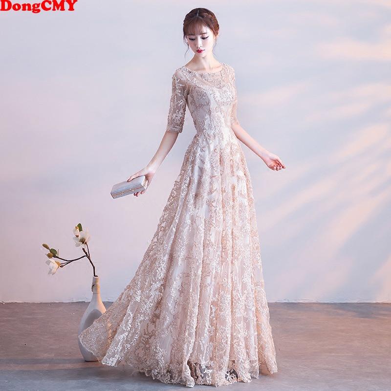 DongCMY 2020 New Natural Waist Prom Dresses Fashion Vestidos Women Flower Long Party Dress