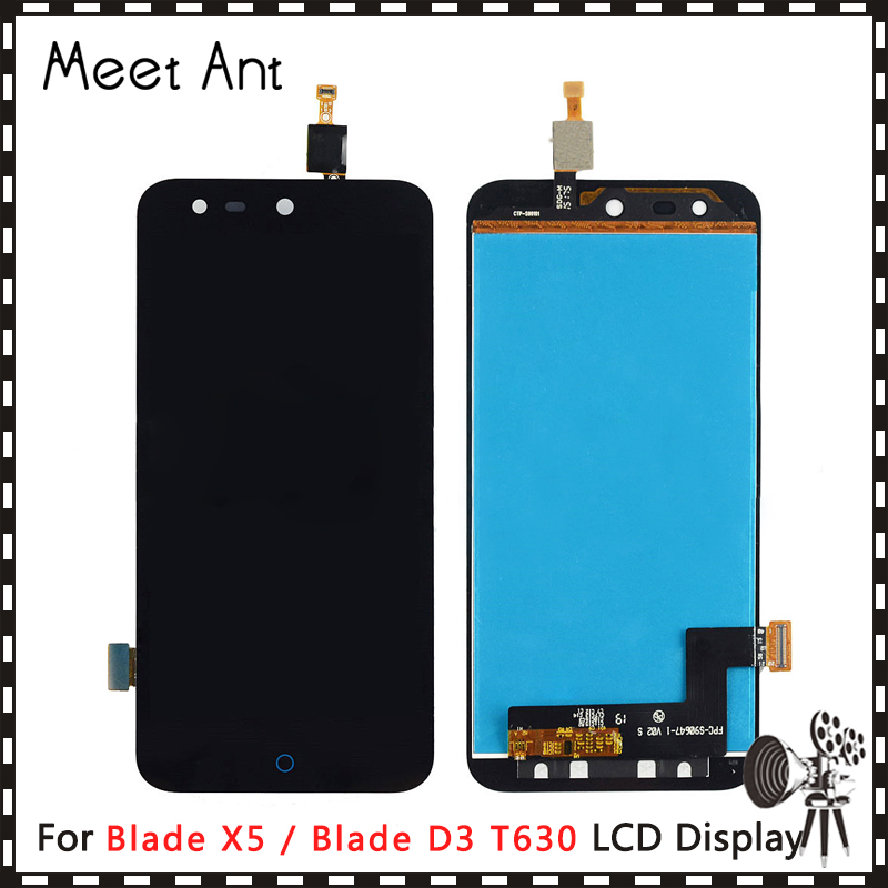 High Quality 5.0'' For <font><b>ZTE</b></font> Blade X5 /Blade D3 <font><b>T630</b></font> LCD Display Screen With Touch Screen Digitizer Assembly image