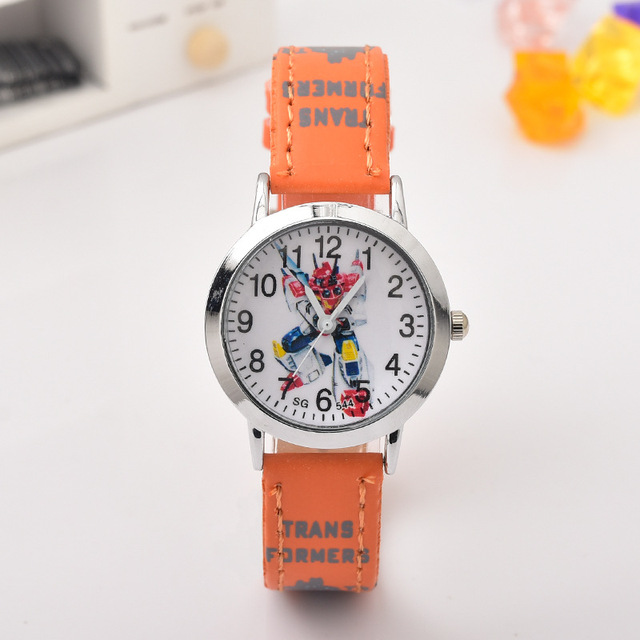 New Cartoon Deformation Robot Fashion Child Watch Student Fashion Fashion Belt K