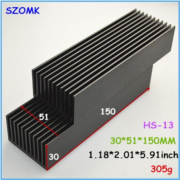 1 pc, high quality extruded aluminum radiator 30*51*150mm electronics computer heatsink instrument case