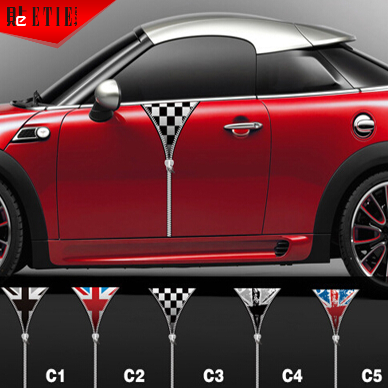 ETIE Mini Car Door Sticker Vinyl PVC Decals Body Sticker - Custom car body stickers